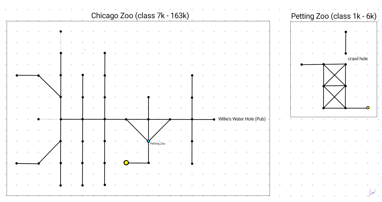 Map of Chicago Zoo