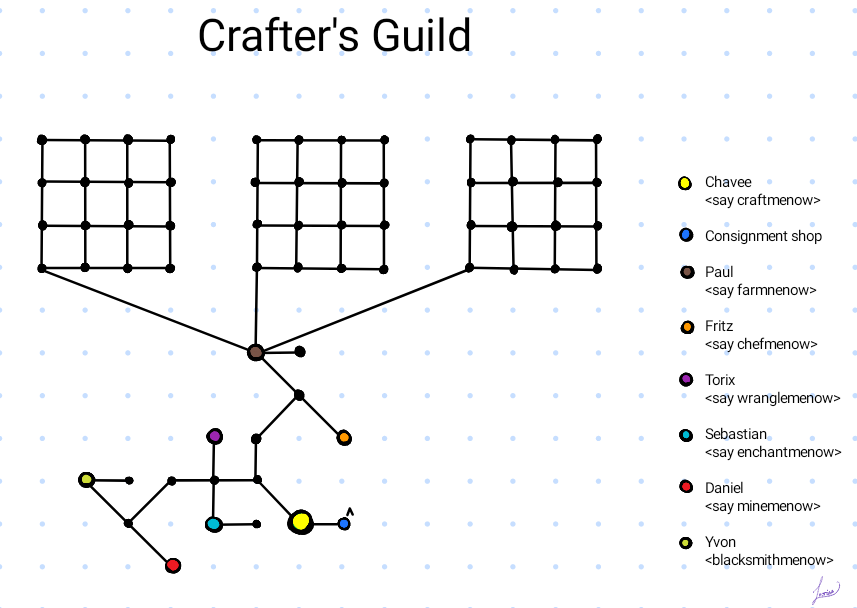 Map of Crafters Guild