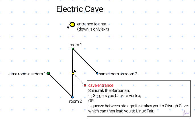 Map of Electric Cave