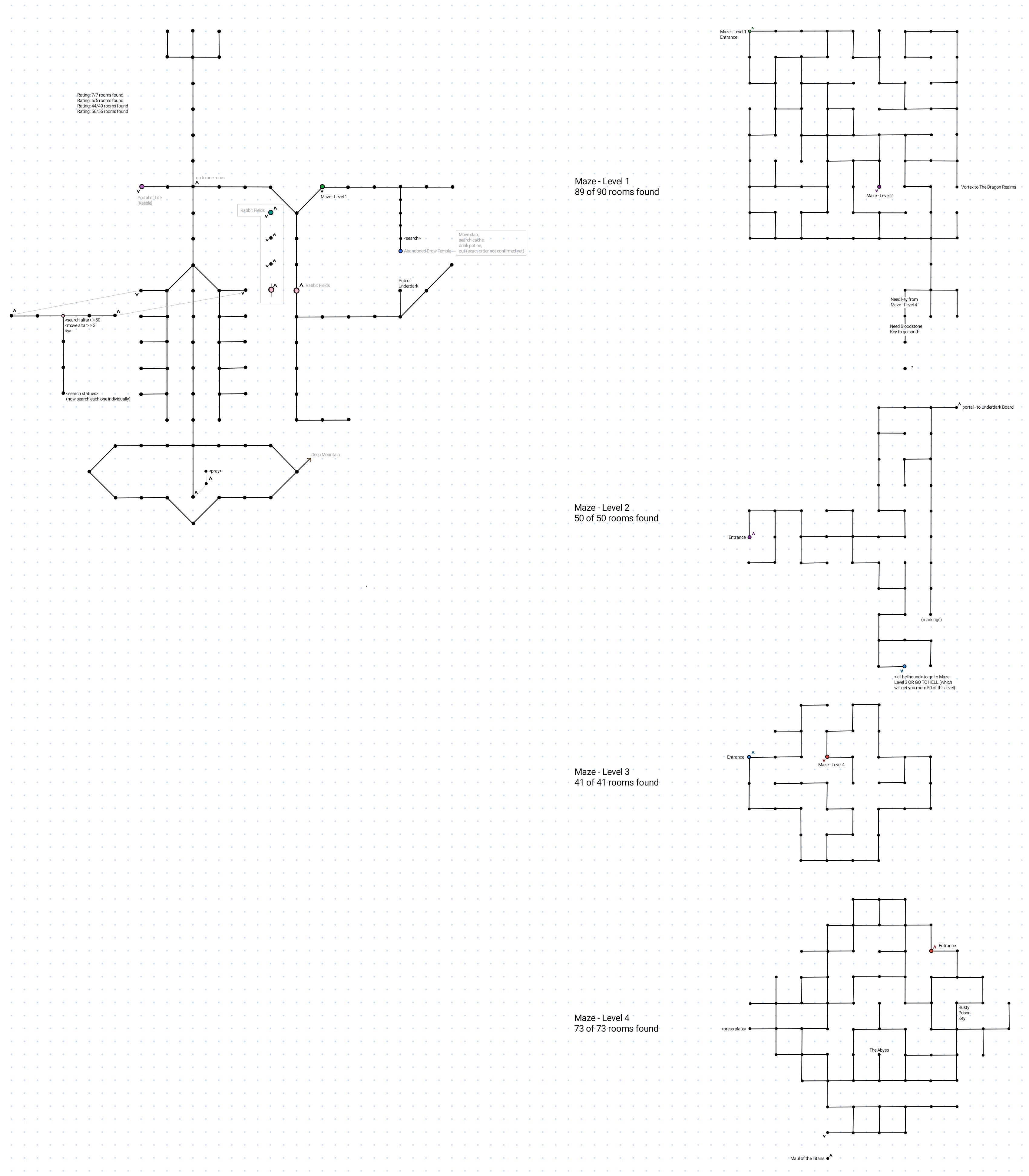 Map of The Drow Kingdom of fe dar Shad
